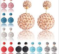 Fashion Korea Style Rhinestone Pearl Stud Earring(1 pair)(More Color)