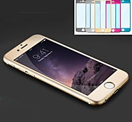 Fashion Luxury Titanium Alloy Tempered Glass Full Coverage Screen Protector for iPhone 6S/6