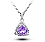 Women's Crystal Pendant Water Drop Handmade Pendant Necklace
