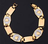 U7® 18K Real Gold Plated Chunky  Bracelet Apple Symbol High Quality Fashion Jewelry Gift Fashion Jewelry