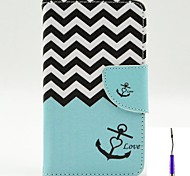 The Sea Waves Pattern PU Leather Case Cover with A Touch Pen ,Stand and Card Holder for LG L70