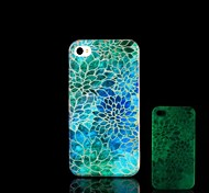 For iPhone 5 Case Glow in the Dark Case Back Cover Case Flower Hard PC iPhone SE/5s/5