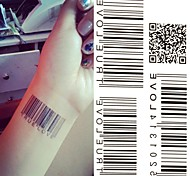Barcode Two-dimensional Code Tattoo Stickers Temporary Tattoos(1 pc)
