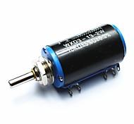 wxd3-13-2w 10kohm múltiples vueltas de hilo bobinado de precisión potenciómetro - negro + azul + plata