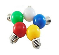 1pcs E27 3W SMD 5730 24LM 5000-7500K Cool White/Red/Blue/Yellow/Green Globe Bulbs AC 220V