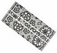 1PC Full Wraps Rose Nail Art Stickers Nail Wraps Black lace Nail Decals Trendy Nail Polish Decorations