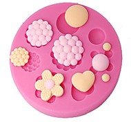 FOUR-C Cake Decor Mould Buttons Gum Paste Mold Cupcake Topper,Cake Decorating Tools Supplies,Fondant Decoration Tools