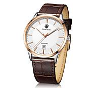 Ultra thin Watch Men's Leather Quartz Wrist Watch