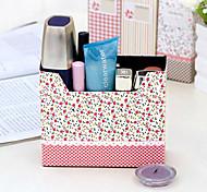 Rural Flower Spots Pattern DIY Paper Storage Box(Random Colors)