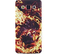 Flame Pattern Soft TPU Case for Samsung Galaxy A3