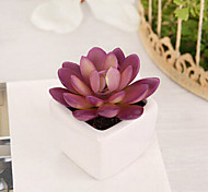 1 Branch Plastic Plants Tabletop Flower Artificial Flowers 7 x 7 x 10(2.76'' x 2.76'' x 3.94'')