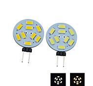 G4 2W 9X5730SMD 190LM 2800-3200K Warm White 6000-6500K Cool White Light LED Spot Bulb D12V
