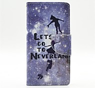 Peter Pan Pattern PU Leather Full Body Case with Card Slot and Stand for  Samsung Galaxy A5