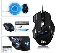 6000 DPI High Precision Game Mouse Mice with 7 Programmable Buttons, Extra Long 2 Meter Cable