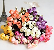 "8.7""L Set of 1 Mini 15 Heads Autumn Rose Silk Cloth Flowers"