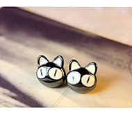 Fashion Lovely Big Eyes Small Cats Patron Earrings