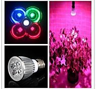 5W E26/E27 Lampes Horticoles LED MR16 3 LED Haute Puissance 500 lm Blanc Naturel / Rouge / Bleu / Vert AC 85-265 V 1 pièce