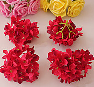 Eight Red Hyfrangeas Decorative Wedding Flowers