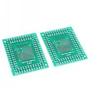 fqfp tqfp 32 44 64 80 100 lqfp SMD-DIP 0,5 / 0,8 mm Adapterplatte (2 Stück)