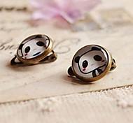 Lovely Panda Clip Earrings