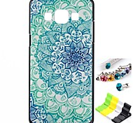 Green Flower Pattern Back Case and Anti-dust Plug and Stand for Samsung Galaxy A5