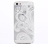 Iphone 5/iPhone 5S - Achterkantje - Effen kleur/Transparant/Noviteit/Ultraplat/Ontworpen in China/Bloem ( Meerkleurig , TPU )