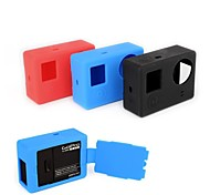 Soft Silicone Rubber Protective Case Skin with Flip Cover for GoPro Hero 3 3+ Camera