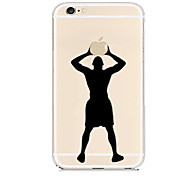 Basketball Player Pattern Transparent Back Case for iPhone 6 Plus