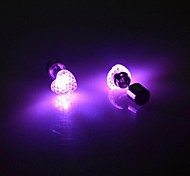 Sweety Heart Colorful LED Earrings(One Pairs)