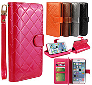 Multi-function PU Leather Flip Cover Wallet Card Slot Case with Stand for iPhone 6 Plus(Assorted Colors)