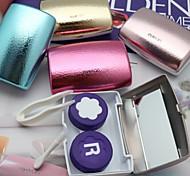 Fashionable Golden Time Stylish Cantact Lens Case (Random Color)