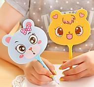 Cute Cartoon Stylish Fan Shaped Multi Color Ballpoint Pen (Random Delivery)