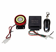Motorcycle Security Alarm Theft Protection Remote Control Kit DC12V Black