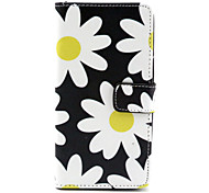 Flower Pattern PU Leather Case with Magnetic Snap and Card Slot for Wiko Rainbow