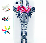 Horse Pattern Stylus Anti-Dust Plug and Stand TPU Material for iPhone 5/5S