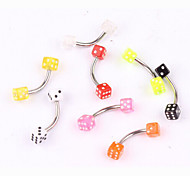 Fashion Stainless Steel Sieve Eyebrow Ring Body Jewelry Piercing(Random Color)