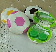 cas belle au football bonbons en forme de couleur de la lentille de cantact (couleur aléatoire)