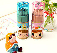 Cute Constellation Girl Pattern 12 Colors Painting Pencil