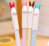 Cute Rabbite Pattern Black Ink Gel Pen(Random Colors)