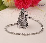 Eruner®Dr Doctor Who Dalek Necklace Vintage Retro Alien Robot Antique Silver Pendant Jewelry