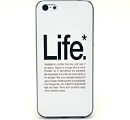 amar modelo plástico vida contraportada dura para 5c iphone