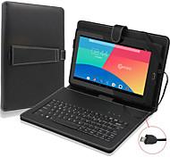 """9.7 """"cuero de la PU caja de la tableta soporte universal con teclado + micro teclado del usb para 9.7 pulgadas tablet pc androide (negro)"""