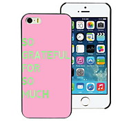 Grateful for So Much Design PC Hard Case for iPhone I4