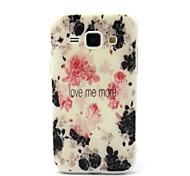 Fashion Design COCO FUN® Ink Safflower Pattern Soft IMD TPU Case Cover for Samsung Galaxy J1