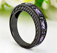 High Quality Fashion Women's Black Gold 10 KT Purple Zircon Ring
