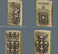 Devil Series Kerosene Lighter Relief Style (Pattern Randomly Shipped)
