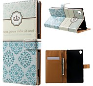 Crown Pattern PU Leather Case with Stand and Card Holder for Sony Xperia Z3