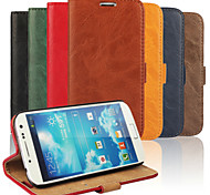 Bark Grain Genuine Leather Full Body Cover with Stand and Case for Samsung Galaxy S4 I9500 (Assorted Colors)