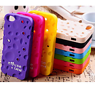 Fragrance Solid Color Cheese The Winding Device Silica Gel Cover With for iPhone 5/5S Case (Assorted Color)