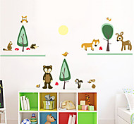 Cartoon Animals' Party PVC Wall Stickers Wall Art Decals